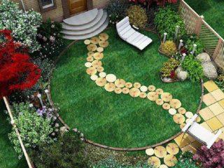 Ландшафтный дизайн на 6 сотках: правила проектирования, идеи, фото