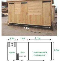 Душ-туалет для дачи деревянный своими руками