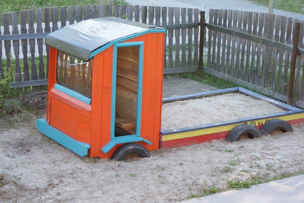 Детская машина-песочница своими руками фото 273