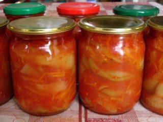 Кабачковое лечо с томатной пастой