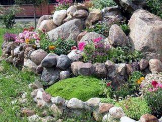 Клумбы из камней своими руками: фото