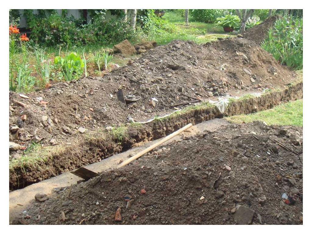 Дренаж на садовом участке своими руками на глинистых почвах 445