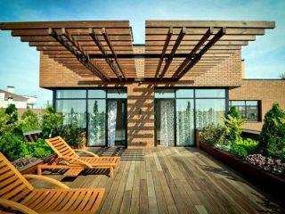 Устройство террасы на крыше
