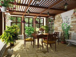 Как оформить веранду в деревенском доме + фото