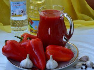 Болгарское лечо на томатном соке на зиму