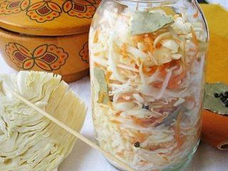 Засолка капусты горячим способом с уксусом