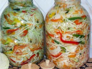 Быстрый рецепт маринованной капусты с болгарским перцем