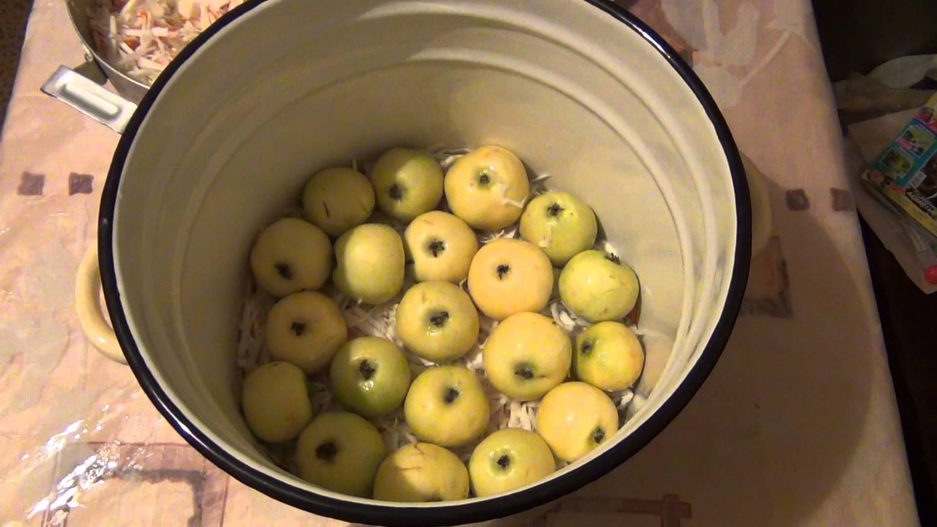 Рецепт моченых яблок на ведро