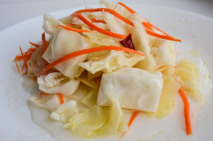 Капуста по-корейски с приправой для корейской моркови