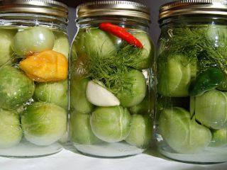 Заготовки из зеленых помидор: рецепты с фото