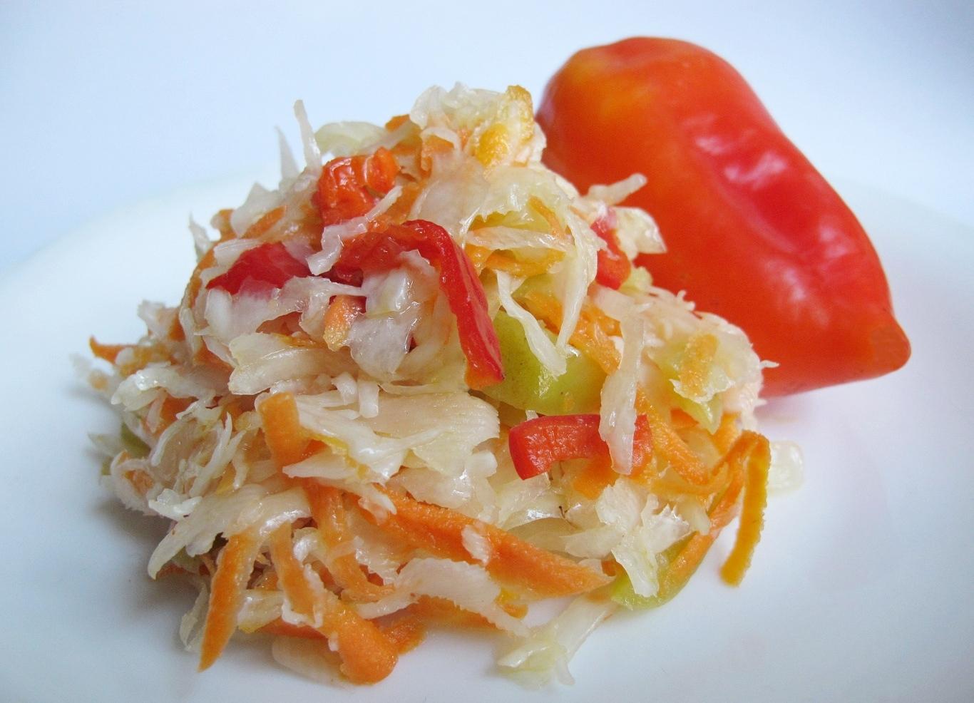 Суточная капуста рецепт с болгарским перцем