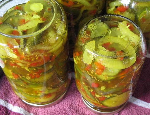 консервированный салат из зелёных помидоров рецепт