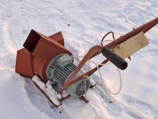 Самодельный электрический снегоуборщик + чертежи, видео