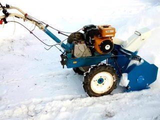 Навесной снегоуборщик на мотоблок
