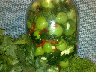 Как засолить зеленые помидоры в ведре холоднымспособом