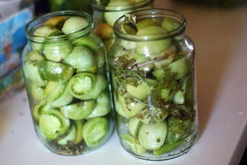 маринованные зеленые помидоры как в магазине в советское время рецепт