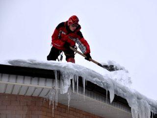 Телескопическая лопата для уборки снега с крыши