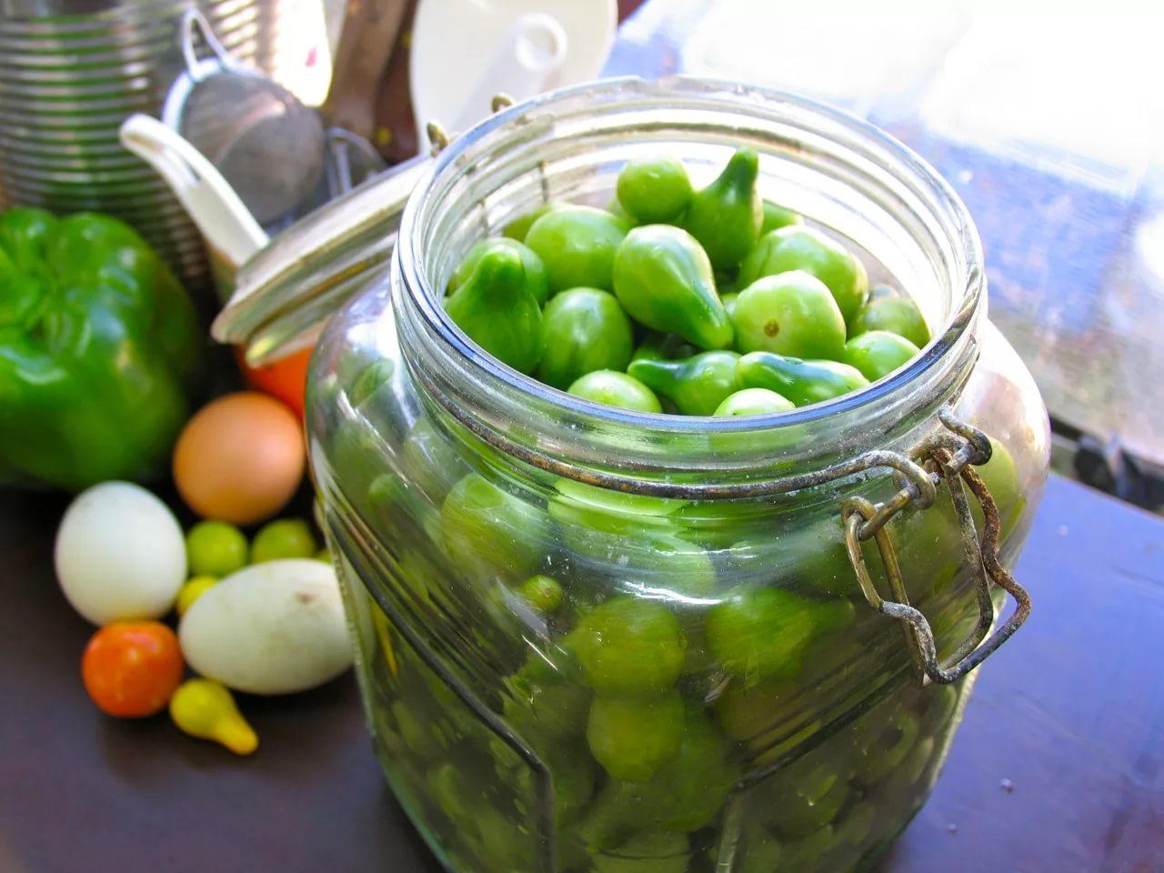 Рецепт зеленых помидор на зиму с чесноком рецепт