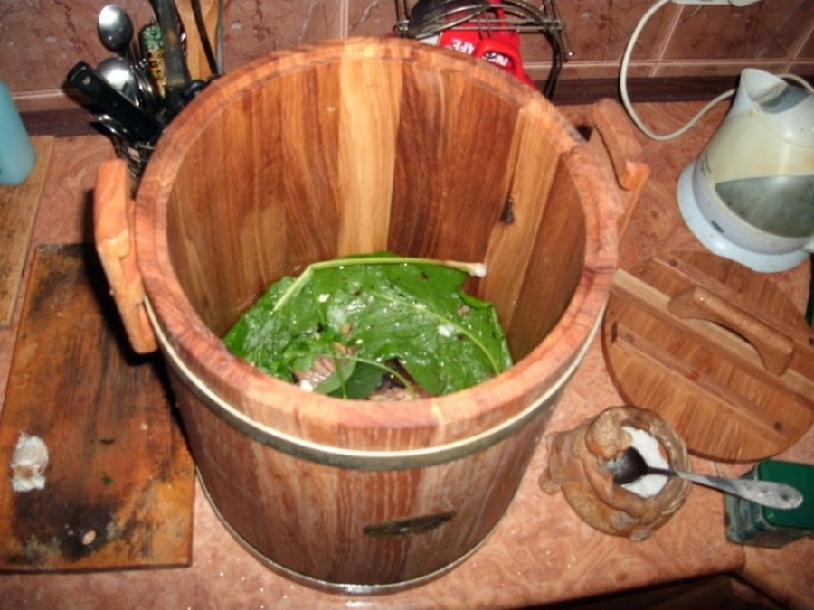 Как засолить зеленые помидоры в капусте