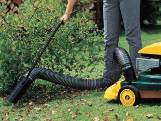 Электрические садовые пылесосы для уборки листьев