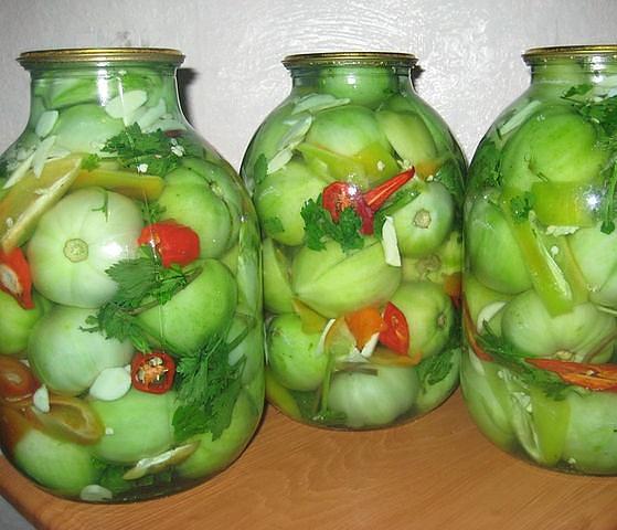 Рецепт закрутки зеленых помидор