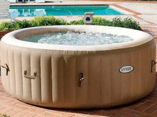Как оформить каркасный бассейн на даче + фото