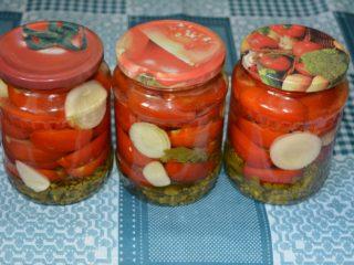 Рецепты помидоров дольками на зиму