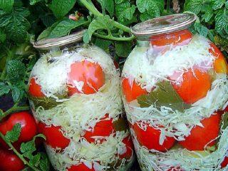 Рецепты помидор с капустой в банке