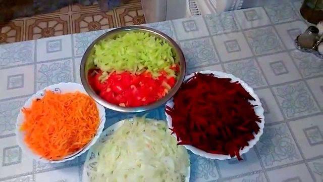 Борщевая заправка на зиму с помидорами