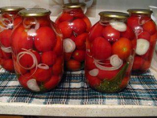 Маринованные кисло-сладкие помидоры
