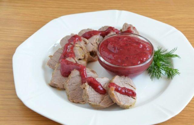клюквенный соус к мясу рецепт без лука