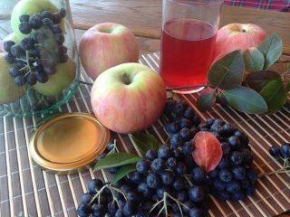 Компот из яблок и черноплодки