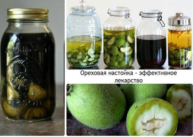 Настойка зеленых орехов на водке применение