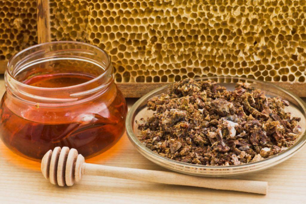 Мед с прополисом  природное лекарство с уникальным составом