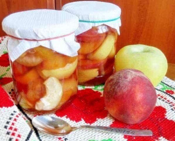 Варенье из персиков с яблоками на зиму: простой рецепт с пошаговыми фото