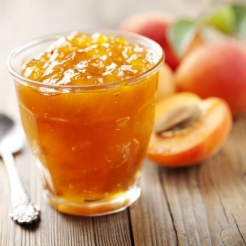 Желе из персиков с желатином, пектином, желфиксом, в мультиварке