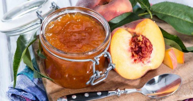 Варенье из персиков Пятиминутка простые рецепты на зиму