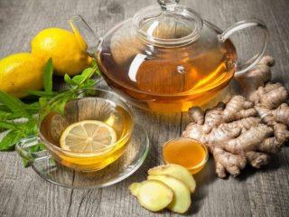 Чай с медом и лимоном при простуде, при температуре