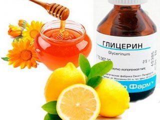 Лимон, глицерин и мед от кашля: 6 рецептов