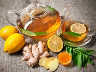 Чай с имбирем и лимоном: рецепты для похудения, для иммунитета