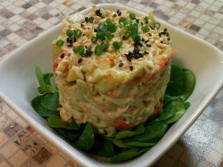 Рецепты салатов с авокадо и крабовыми палочками