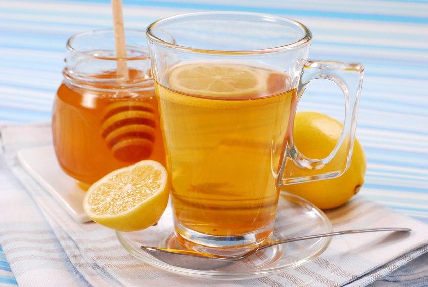 Коктейль вода лимон мед