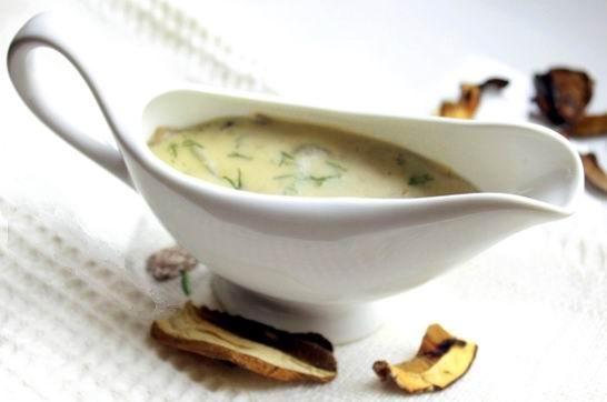 Грибной соус из опят со сливками из замороженных, сухих, свежих грибов