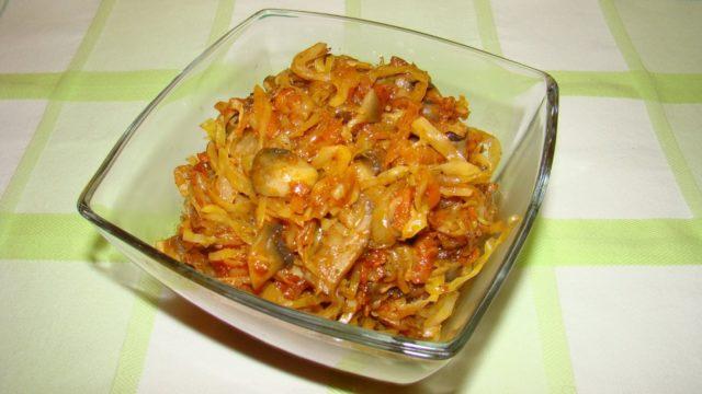 Белые грибы с капустой как приготовить, вкусные рецепты с фото