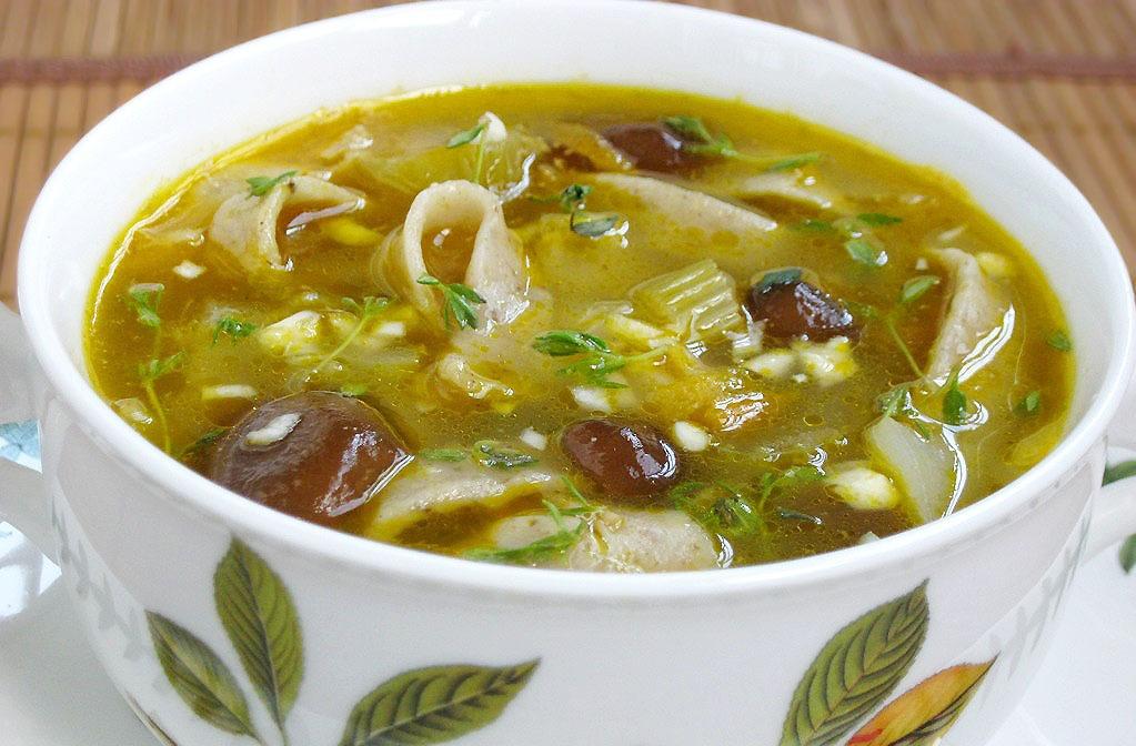 Картинки как приготовить грибной суп