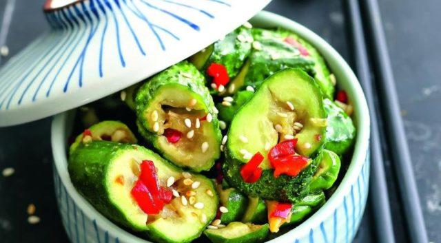 Битые огурцы по-китайски рецепты салатов с фото, калорийность