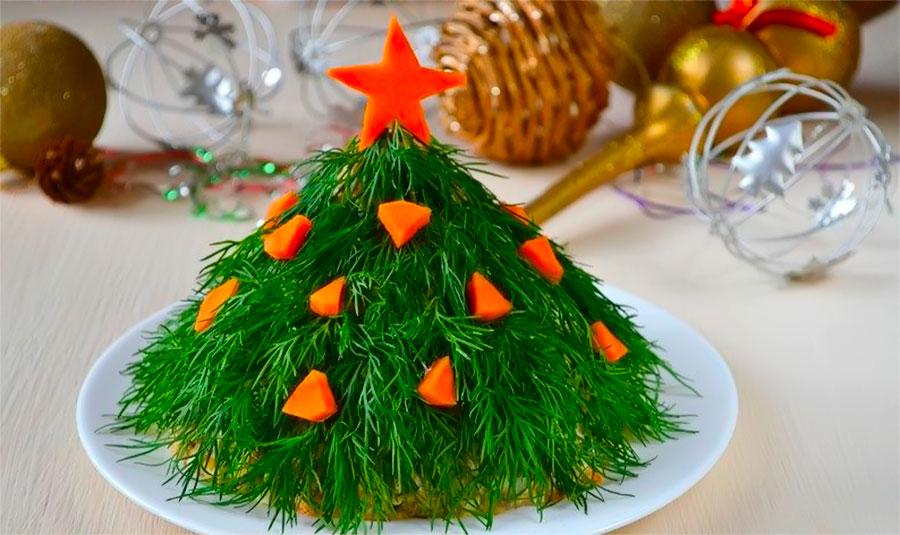 рецепт салата елка с фото