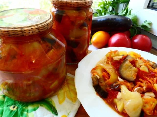 рецепт лечо с содержанием петрушки и чеснока