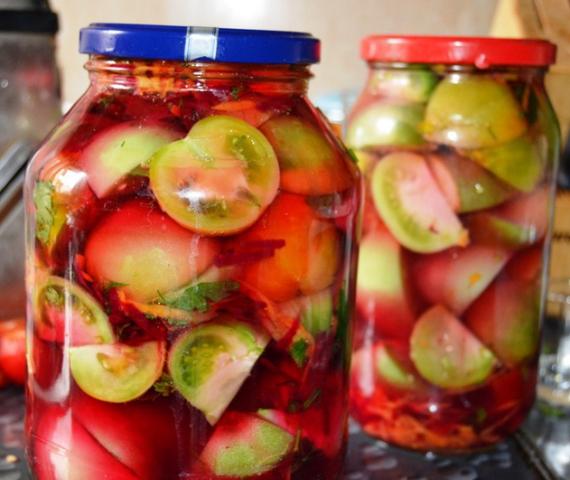 рецепт помидор на зиму с приправой для маринования
