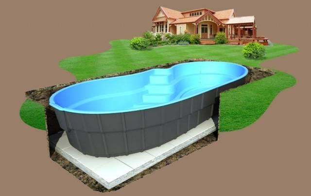 Бассейны для дачи вкапываемые разновидности, установка